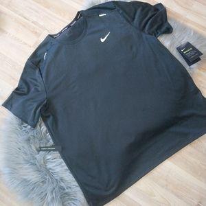 Men's Nike Dri-Fit Running Tshirt/Dark Gray/Sz XL